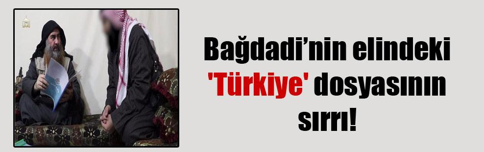 Bağdadi'nin elindeki 'Türkiye' dosyasının sırrı!