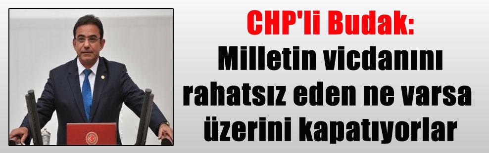 CHP'li Budak: Milletin vicdanını rahatsız eden ne varsa üzerini kapatıyorlar