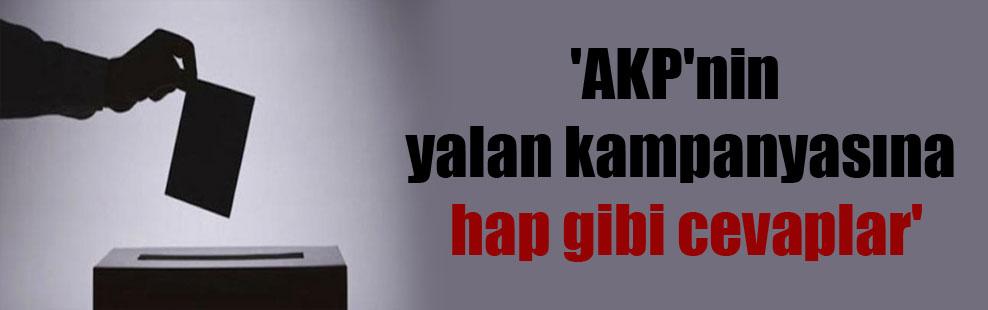 'AKP'nin yalan kampanyasına hap gibi cevaplar'