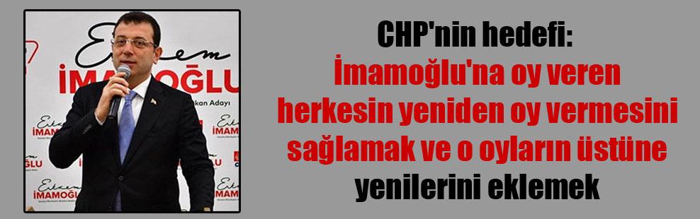 CHP'nin hedefi: İmamoğlu'na oy veren herkesin yeniden oy vermesini sağlamak ve o oyların üstüne yenilerini eklemek
