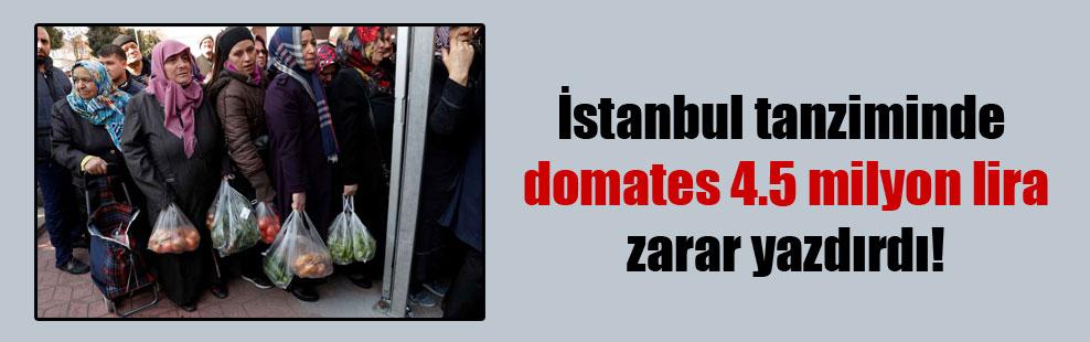 İstanbul tanziminde domates 4.5 milyon lira zarar yazdırdı!