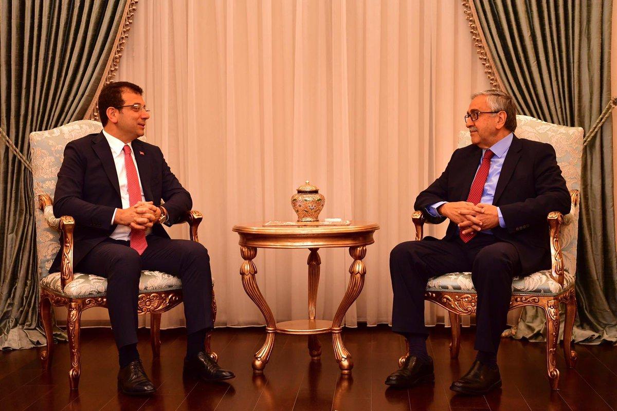 İmamoğlu, KKTC Cumhurbaşkanı Mustafa Akıncı ile buluştu