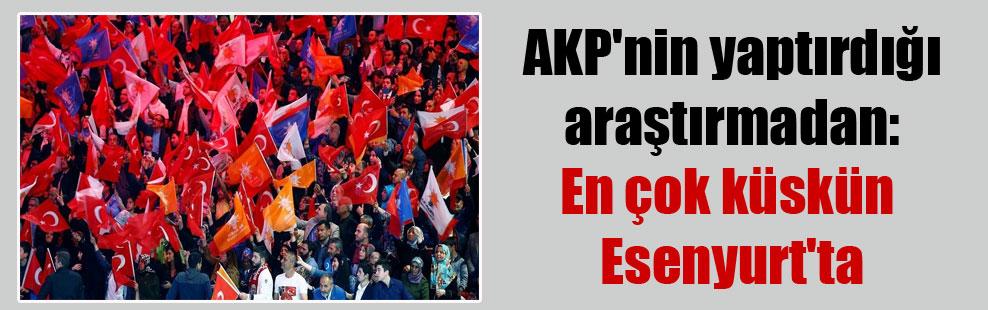 AKP'nin yaptırdığı araştırmadan: En çok küskün Esenyurt'ta