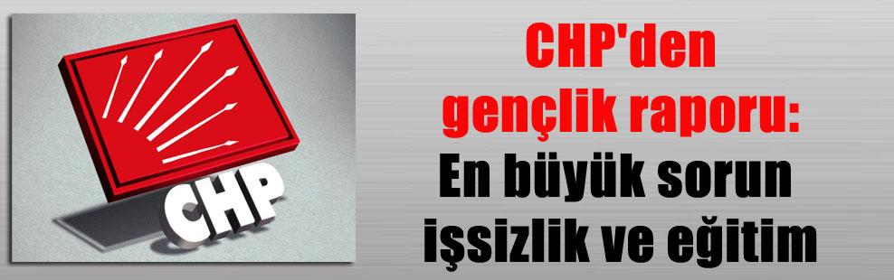 CHP'den gençlik raporu: En büyük sorun işsizlik ve eğitim