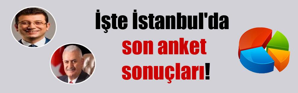 İşte İstanbul'da son anket sonuçları!