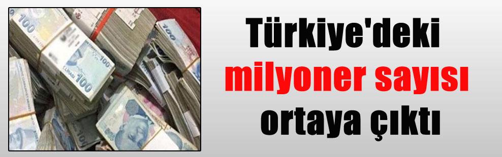 Türkiye'deki milyoner sayısı ortaya çıktı