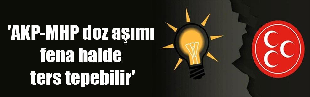 'AKP-MHP doz aşımı fena halde ters tepebilir'