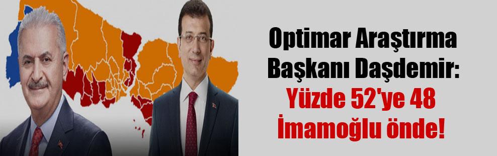 Optimar Araştırma Başkanı Daşdemir: Yüzde 52'ye 48 İmamoğlu önde!