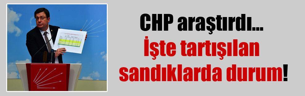 CHP araştırdı… İşte tartışılan sandıklarda durum!