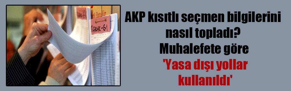 AKP kısıtlı seçmen bilgilerini nasıl topladı? Muhalefete göre 'Yasa dışı yollar kullanıldı'