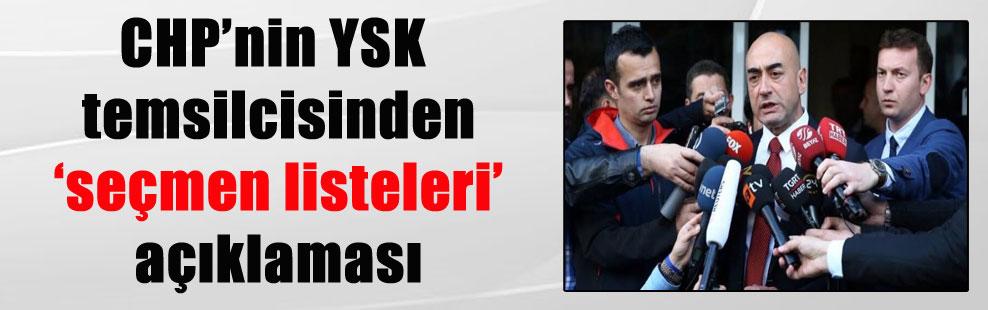 CHP'nin YSK temsilcisinden 'seçmen listeleri' açıklaması