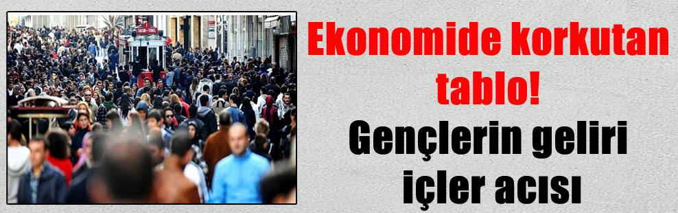 Ekonomide korkutan tablo! Gençlerin geliri içler acısı