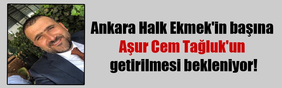 Ankara Halk Ekmek'in başına Aşur Cem Tağluk'un getirilmesi bekleniyor!
