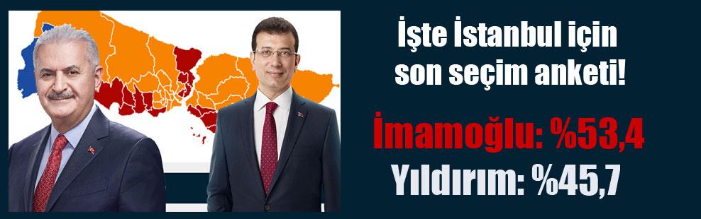 İşte İstanbul için son seçim anketi!