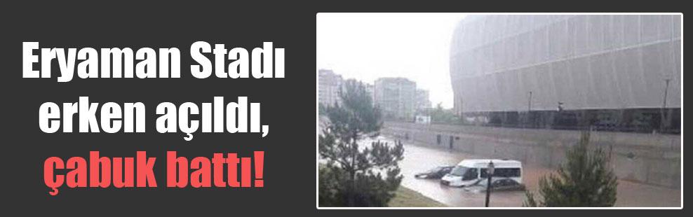 Eryaman Stadı, erken açıldı, çabuk battı!