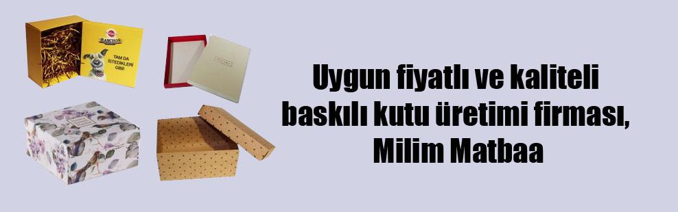 Uygun fiyatlı ve kaliteli baskılı kutu üretimi firması, Milim Matbaa