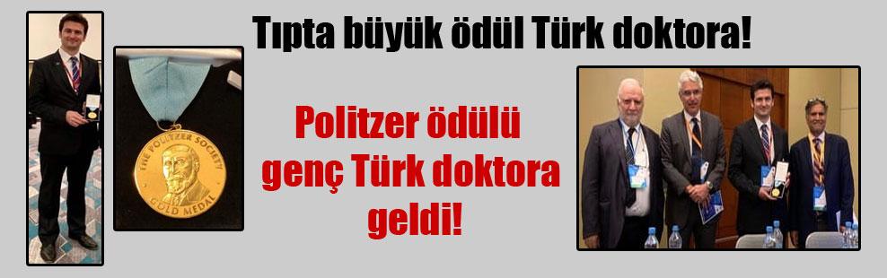 Tıpta büyük ödül Türk doktora!  Politzer ödülü genç Türk doktora geldi!
