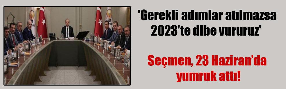 'Gerekli adımlar atılmazsa 2023'te dibe vururuz'  Seçmen, 23 Haziran'da yumruk attı!