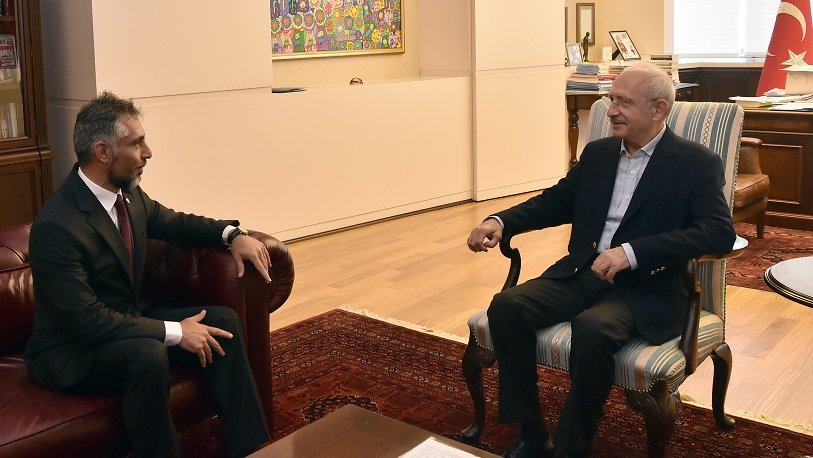 Kılıçdaroğlu, Hürrü Aliyev'i kabul etti
