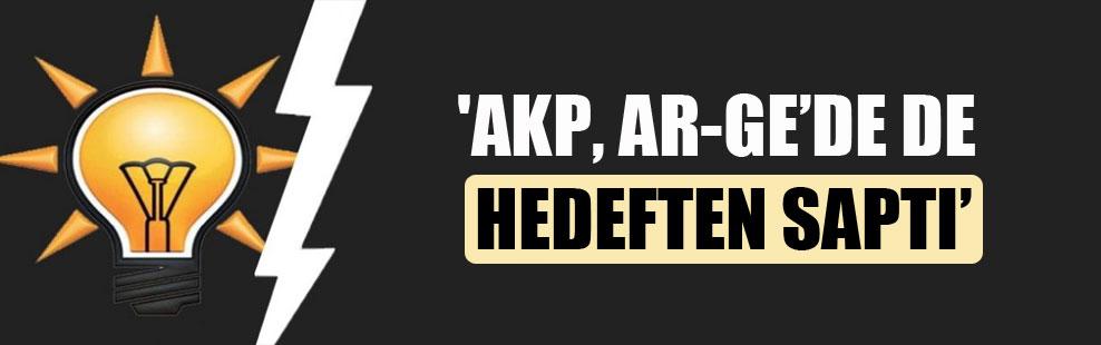 'AKP, AR-GE'de de hedeften saptı'