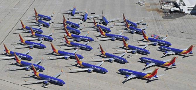 346 kişinin ölümüne sebep olan Boeing 737 MAX'lar uçak mezarlığına koyuldu