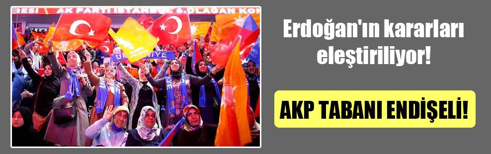 Erdoğan'ın kararları eleştiriliyor!