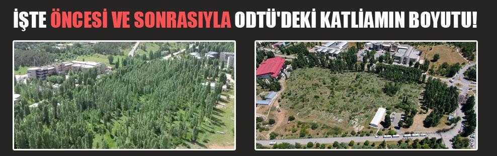İşte öncesi ve sonrasıyla ODTÜ'deki katliamın boyutu!