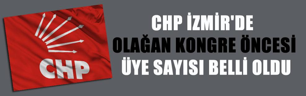CHP İZMİR'DE OLAĞAN KONGRE ÖNCESİ ÜYE SAYISI BELLİ OLDU