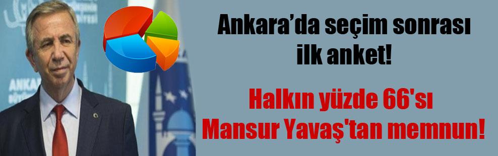 Ankara'da seçim sonrası ilk anket! Halkın yüzde 66'sı Mansur Yavaş'tan memnun!