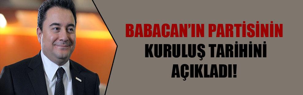 Babacan'ın partisinin kuruluş tarihini açıkladı!