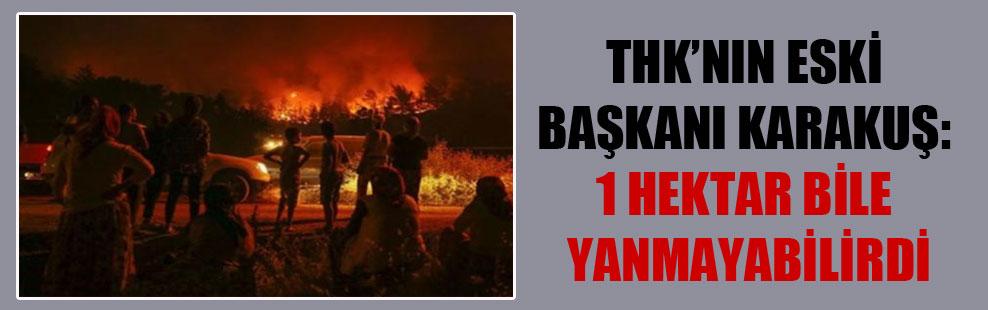 THK'nın eski başkanı Karakuş: 1 hektar bile yanmayabilirdi