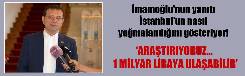 İmamoğlu'nun yanıtı İstanbul'un nasıl yağmalandığını gösteriyor!
