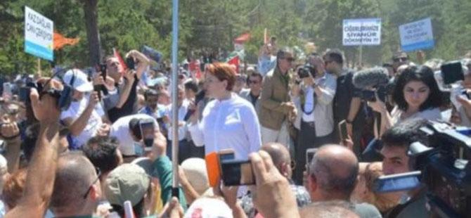 Akşener Kaz Dağları'ndan Erdoğan'a seslendi: Gel kardeşim şurayı gör