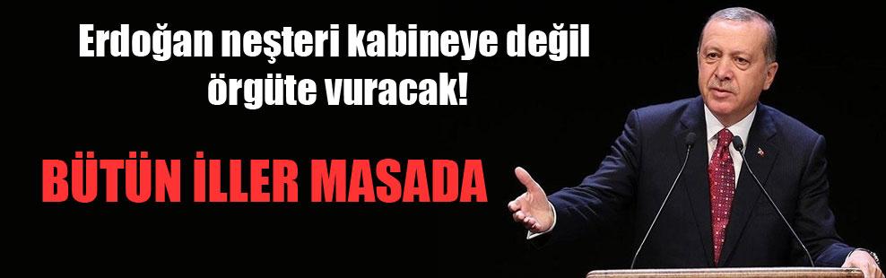 Erdoğan neşteri kabineye değil örgüte vuracak!