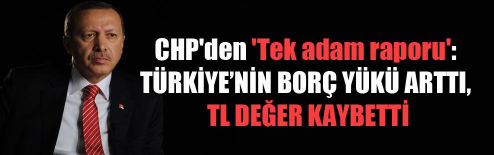 CHP'den 'Tek adam raporu': Türkiye'nin borç yükü arttı, TL değer kaybetti