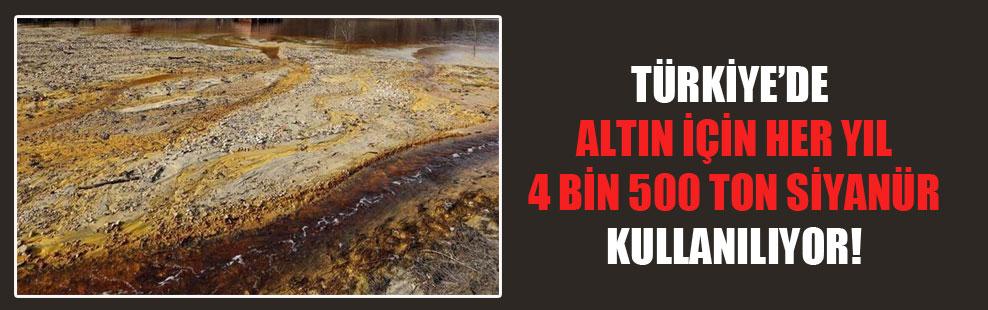 Türkiye'de altın için her yıl 4 bin 500 ton siyanür kullanılıyor!