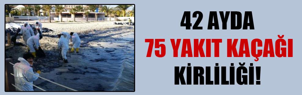 42 ayda 75 yakıt kaçağı kirliliği!