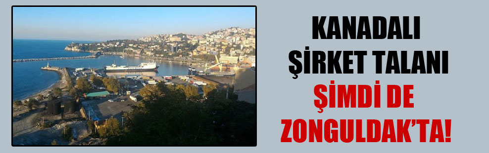 Kanadalı şirket talanı şimdi de Zonguldak'ta!