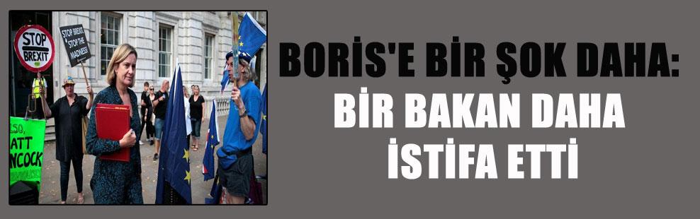 BORİS'E BİR ŞOK DAHA: BİR BAKAN DAHA İSTİFA ETTİ