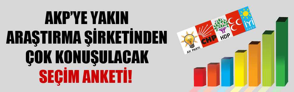 AKP'ye yakın araştırma şirketinden çok konuşulacak seçim anketi!