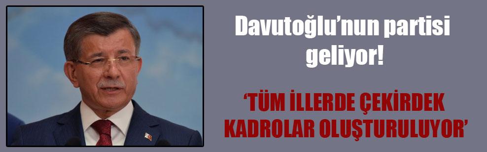 Davutoğlu'nun partisi geliyor!
