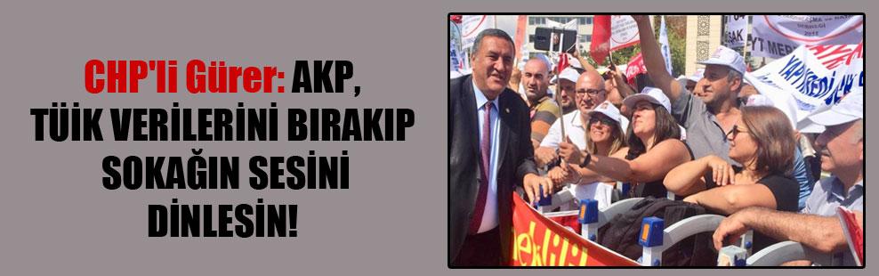 CHP'li Gürer: AKP, TÜİK verilerini bırakıp sokağın sesini dinlesin!
