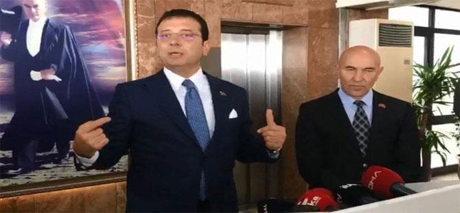 İmamoğlu ve Tunç Soyer'den 'Kaftancıoğluna ceza' açıklaması