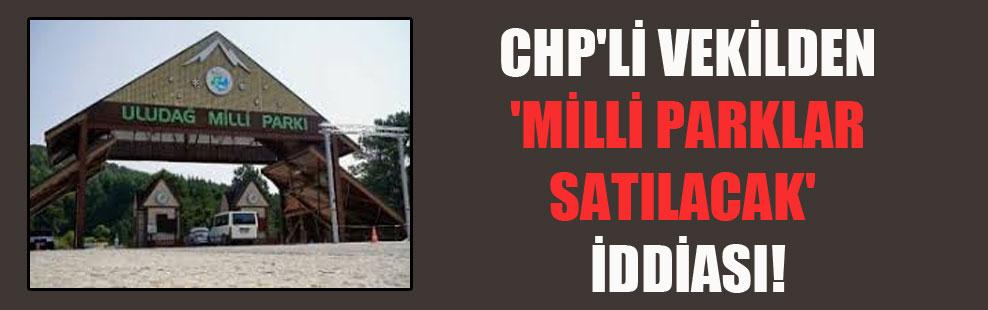 CHP'li vekilden 'milli parklar satılacak' iddiası!