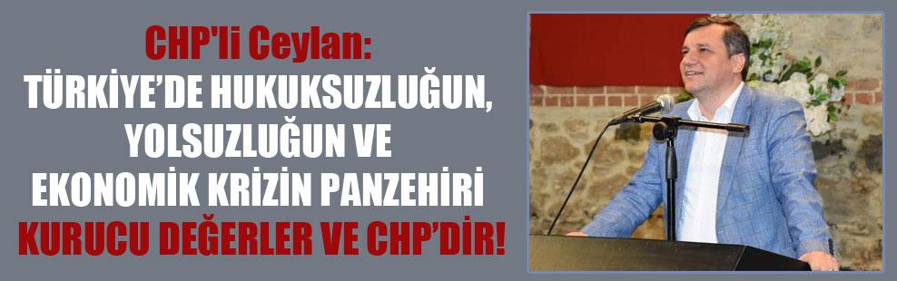 CHP'li Ceylan: Türkiye'de hukuksuzluğun, yolsuzluğun ve ekonomik krizin panzehiri kurucu değerler ve CHP'dir!