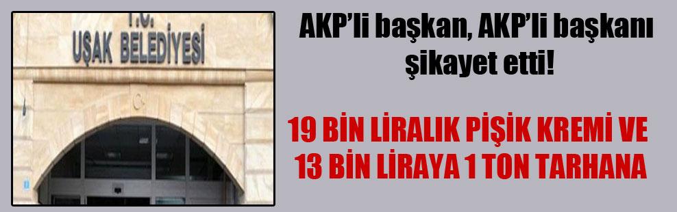 AKP'li başkan, AKP'li başkanı şikayet etti!