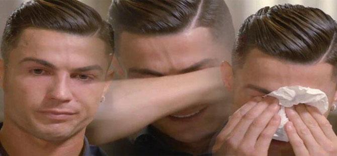 Cristiano Ronaldo gözyaşlarına boğuldu!
