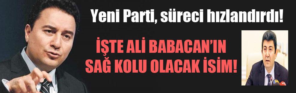 Yeni Parti, süreci hızlandırdı! İşte Ali Babacan'ın sağ kolu olacak isim!