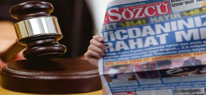 Sözcü Gazetesi davası ertelendi!