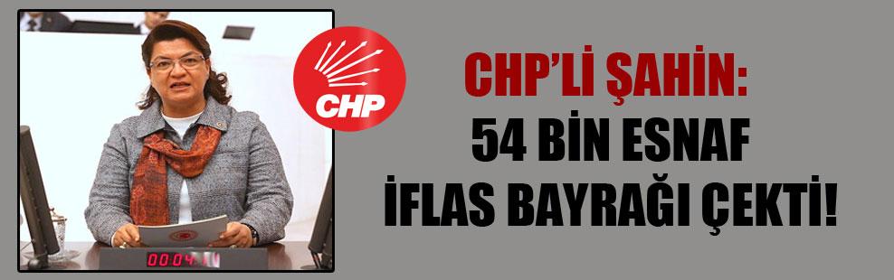 CHP'li Şahin: 54 bin esnaf iflas bayrağı çekti!